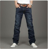 2013 New Fashion brand Famous Mens Designer Jeans Blue Korean Version Warm Thicken Cotton Denim Trousers for Man big Size:28-38