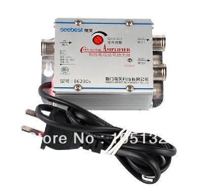 TV CATV Antenna Broadband Signal Amplifier AMP Booster(China (Mainland))
