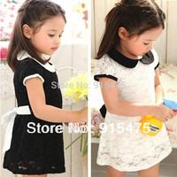 Free shipping!2014 summer baby children's wear Lace princess dress girl Doll brought leisure fair maiden dress kids wear