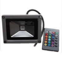 Hotsell 10W LED AC85-265V RGB Color Spotlights Flood Lights Garden Lamps Remoter Control Waterproof For Home Party