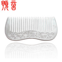 99 fine silver comb pure silver health comb LAOYINJIANG handmade combs gift belt certificate