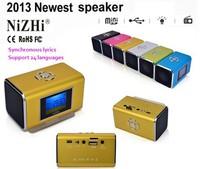 Synchronous lyrics NiZHI Digital voice display Portable Mini Music MP3/4 Player SD/TF USB Speaker FM Radio LCD SRS surround