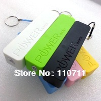 100sets/lot Free Shipping 2600mAh USB Power Bank Portable External Battery Charger For samsung iphone 5C 5S 4S htc