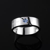 Mysh 925 pure silver ring male fashion brief single ring r0003