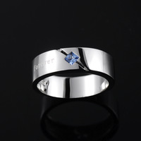 Mysh 925 pure silver ring male fashion brief single ring r0003