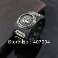 Free shipping!Stud Men's Leather Wristband Cowboy Leather Bracelet Casual Hand Jewelry