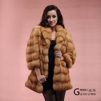 Winter women's 2013 fur luxury medium-long marten overcoat