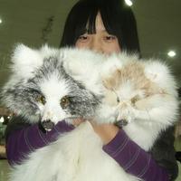 Cross fox scarf full leather fox fur fox scarf fur scarf muffler scarf cape