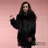 Winter women's 2013 medium-long fur overcoat full leather mink fur coat
