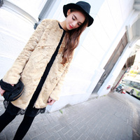 Sr 2013 fashion faux welshwomen wool coat outerwear 2 . 0822