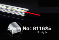 10pcs/lot  Super bright  DC 12V 5630 SMD 36 LED 50cm Rigid Strip Light Bulbs with Aluminum Alloy Shell Warmwhite/ Cold White