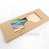 Kraft paper box 10PCS pencils +9PCS pastel Pencils  set environmental protection  color pencil for drawing