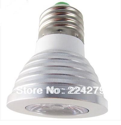 3Watts E27 RGB Multi Color Change LED Light Bulb 220V Party Lighting(China (Mainland))