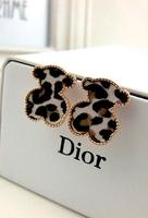 1579t accessories m leopard print bear applique stud earring female earrings 9083