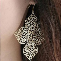 Sakura's Store New arrival fashion vintage leaves bohemia cutout stud earring