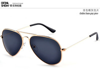 free shipping brand new men and women  polarized lens sunglasses frog yurt classic metallic glasses eyewear
