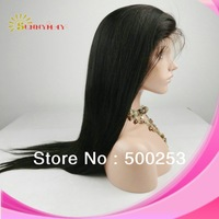 Sunnymay  100%Brazilian Virgin Hair Lace Front Human Hair Wigs Silk Straight  For African American