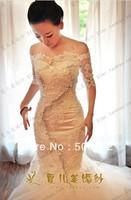 Luxury  Off the Shoulder Appliqued Mermaid Design Wedding Dresses