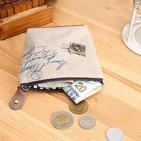 1Pc New Fashion Zipper Coin Purse Wallet Burse Cartoon Key Fabric Cotton Canvas Bag Free Shipping