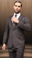 2014 High Fasion Desiner Custom Made Men Wedding Groom Tuxedo Luxury Brand Formal Men Business Suits Slim Fit Prom Suits
