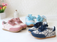 new  2014 spring   girls shoes   lace princess  sports shoes girl kids children baby sneakers