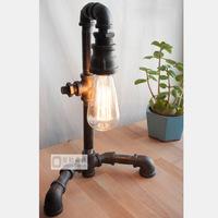Light bulb table lamp water pipe lambdoid style table lamp