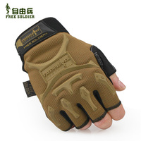 Outdoor gloves tactical gloves ride gloves automobile race semi-finger gloves