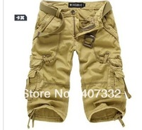 Free Shipping Sale Men's leisure shorts Military Uniform Shorts,Multi-Pocket Cargo sports Shorts Size 29 30 31 32 34 36 38