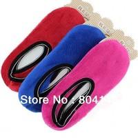 Yoga Slippers Fitness Dance Shoes Hosiery  Thick Warm Coral Velvet  Non-Slip Floor Socks