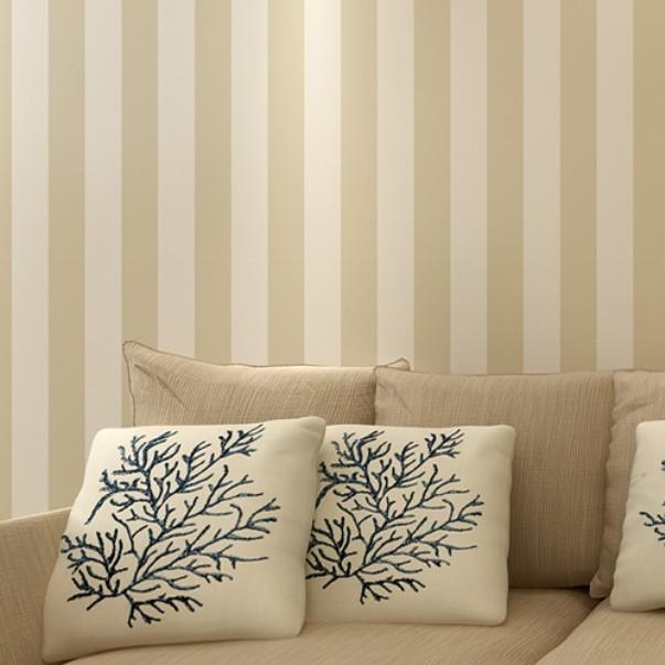10m modern brief vertical striped non woven flocking - Pintura color vison ...