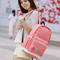 2014 brief polka dot casual backpack nylon female double-shoulder student school bag travel backpack
