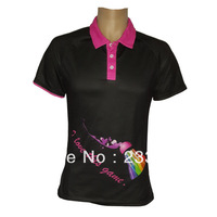 Free shipping (5pieces or more) high-tech Custom POLO Shirt/badminton clothing/ sports jersey