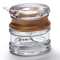 128ml golden side acrylic cruet spice jar sucrier with spoon