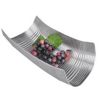 Fashion style stainless steel roll-up hem fruit plate fruit basket bowl