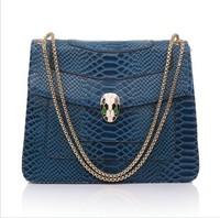 Hot sell new fashion Women leather handbag vintage bag Serpentine female bag  real cowhide head of the snake bag street package