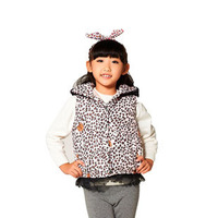 New Girls Fashion Vests Dress for winter Baby child  Hooded  Waistcoat clothing K4927