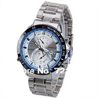 2013 Newest Brand Curren Men Watch Waterproof Wristwatch Calendar Quartz Analog Watch Silver Stainless Steel Watches for Male