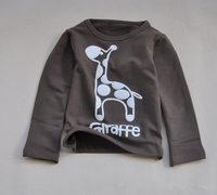 Wholesale New Children's T-shirt Baby boy girl's long sleeves T shirts Children's Clothing deer cartoon t-shirt BGT-335-B