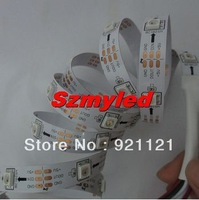 5M 30 Pixels WS2812B 2811 WS2812 150 ICs SMD 5050 RGB Digital LED Strip Light Ribbon DC 5V ,White PCB