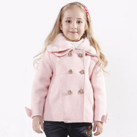 2014 Winter New Year Gift  Girl Kids Coat Solid  Fashion  Warm  Outwear K4928
