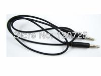 Free Shipping 10pcs Test Cable 4.0mm male Banana Plug to 4.0mm male Banana Plug