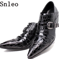 6.8cm Height Increasing Pointed toe fashion personality casual leather shoes men leather high-heeled, business leather shoes