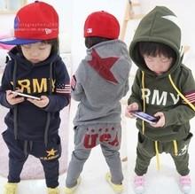 330 free shipment Army child clothing sets kids twinset moq1set(China (Mainland))