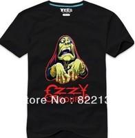 ozzy- rock band music t shirts custom men shirts .100% Cotton custom logo,t-shirt printing,make your own t-shirt  Free shipping