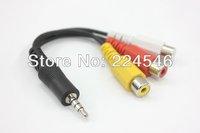SAMSUNG LED TV AV Wii XBOX 360 PS3 ADAPTOR CABLE AV Adapter Cable - Stereo & Composite Video