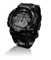 Free shipping Hot-selling GPS tracker watch Multifunction GPS Sports Wrist Watch Rubber Band Digital Waterproof - Black