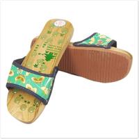Slip-resistant wooden sandals bathroom female slippers summer at home indoor massage male slippers