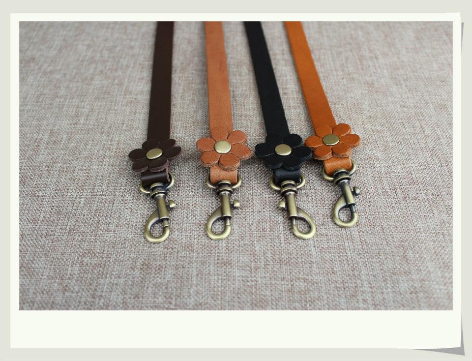 Free shipping High quality genuine leather 10pcs/lot real leather bag handle. DIY bag strap handbag handle accessories 61*1.3cm(China (Mainland))