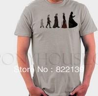 STAR WARS EVOLUTION Black Knight men diy shirts men's Fashion band short  t-shirt printing, round neck 100% Cotton.cusotm shirt