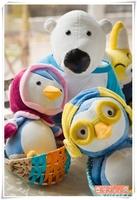 Pororo penguin doll cloth doll plush toy birthday gift  free shipping
